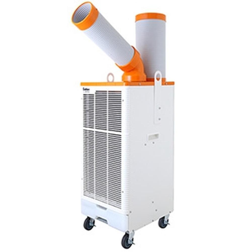 スイデン スポットエアコン 《クールスイファン》 レンタル・リース向けタイプ フロアタイプ 冷風1口 100V 自動首振り装置内蔵 ポッキンプラグ付 SS-25DH-1P