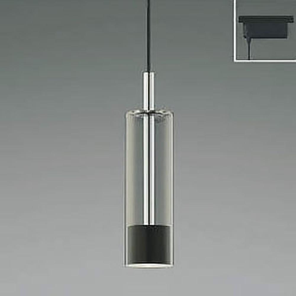 コイズミ照明 LED一体型ペンダントライト 《Chrome×Black》 ライティングレール取付専用 白熱球60W相当 電球色 AP40506L