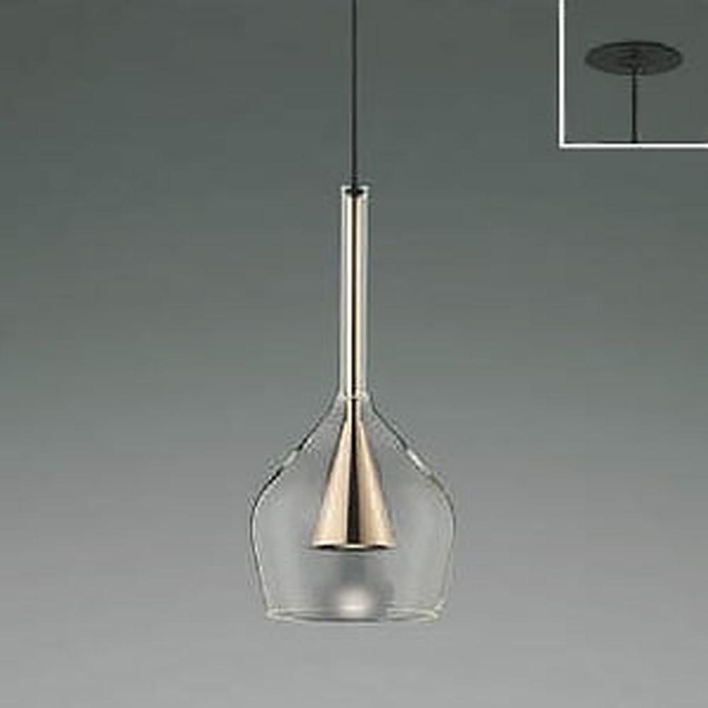 コイズミ照明 LED一体型ペンダントライト 《S-glass》 埋込取付タイプ 埋込穴φ75mm 白熱球60W相当 電球色 コッパー AP45324L
