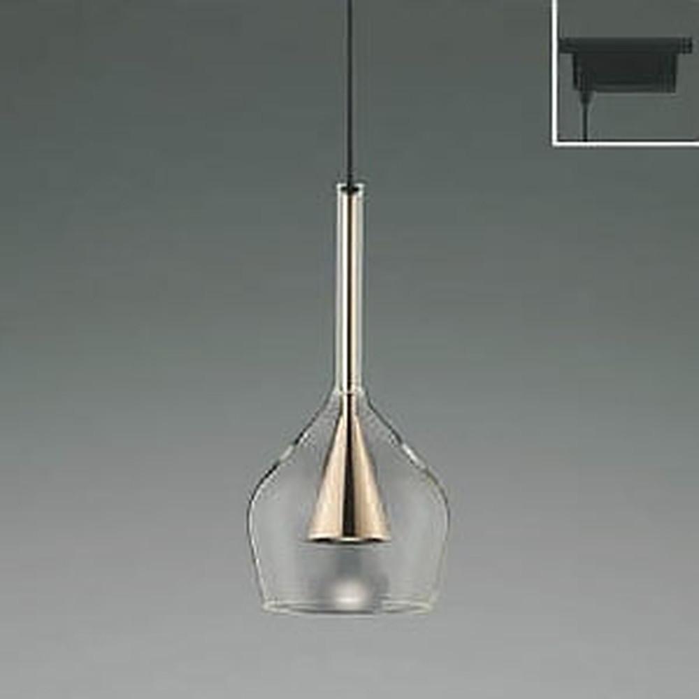 コイズミ照明 LED一体型ペンダントライト 《S-glass》 ライティングレール取付専用 白熱球60W相当 電球色 コッパー AP45325L