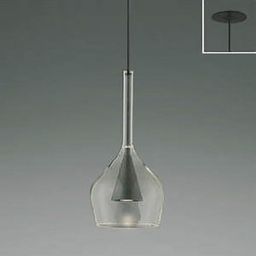 コイズミ照明 LED一体型ペンダントライト 《S-glass》 埋込取付タイプ 埋込穴φ75mm 白熱球60W相当 電球色 グレーメタリック AP45330L
