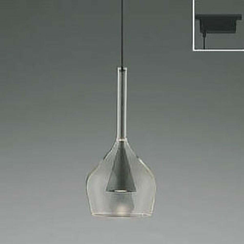 コイズミ照明 LED一体型ペンダントライト 《S-glass》 ライティングレール取付専用 白熱球60W相当 電球色 グレーメタリック AP45331L