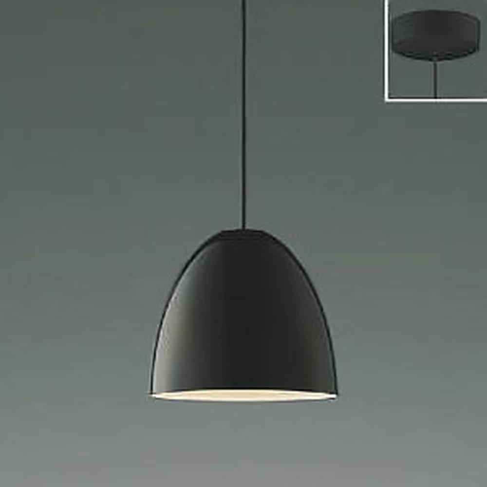 コイズミ照明 LED一体型ペンダントライト 《Simple&Quality》 フランジタイプ 白熱球60W相当 電球色 黒 AP46940L