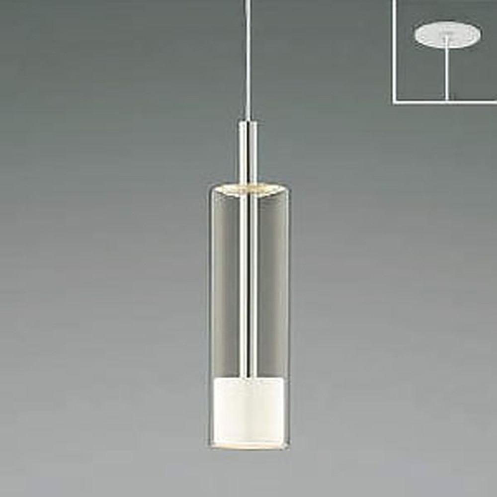 コイズミ照明 LED一体型ペンダントライト 《Chrome×White》 埋込取付タイプ 埋込穴φ75mm 白熱球60W相当 電球色 AP46950L