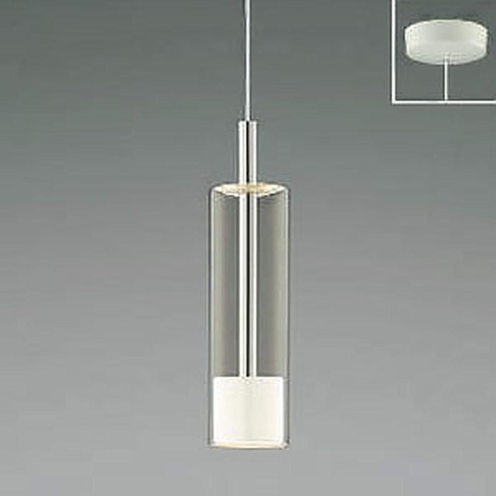 コイズミ照明 LED一体型ペンダントライト 《Chrome×White》 フランジタイプ 白熱球60W相当 電球色 AP46951L