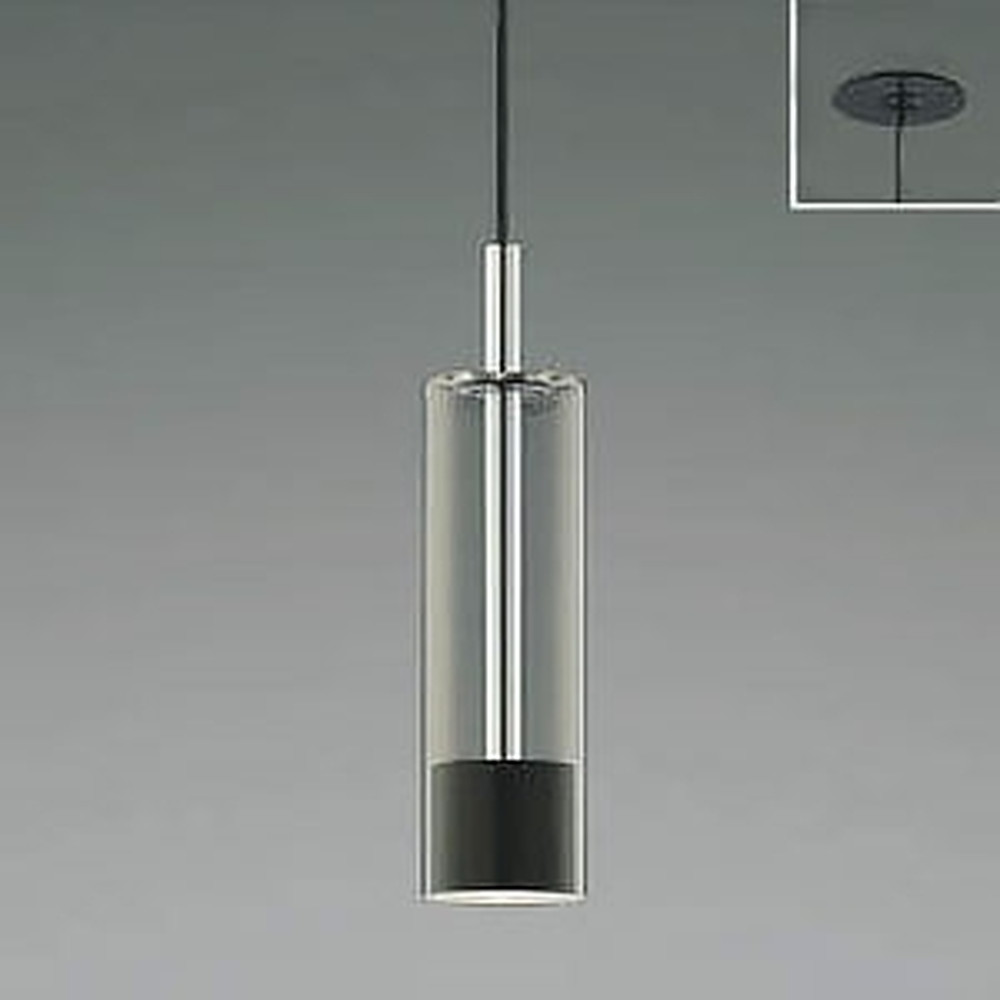 コイズミ照明 LED一体型ペンダントライト 《Chrome×Black》 埋込取付タイプ 埋込穴φ75mm 白熱球60W相当 電球色 AP46952L