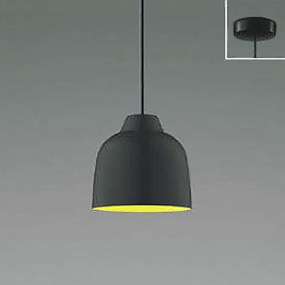 コイズミ照明 LED一体型ペンダントライト 《MICROSCOLOR》 フランジタイプ 白熱球60W相当 電球色 調光タイプ マットブラック AP47586L