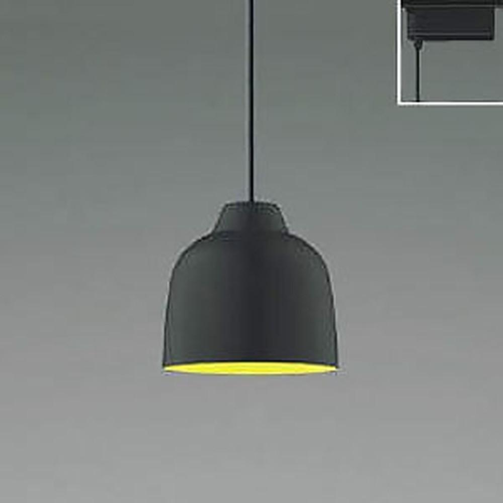 コイズミ照明 LED一体型ペンダントライト 《MICROSCOLOR》 ライティングレール取付専用 白熱球60W相当 電球色 調光タイプ マットブラック AP47592L
