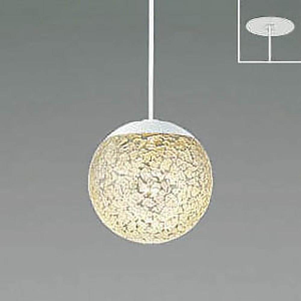コイズミ照明 LED一体型ペンダントライト 《MICROSGLASS》 埋込取付タイプ 埋込穴φ75mm 白熱球60W相当 電球色 調光タイプ 透明 AP47615L