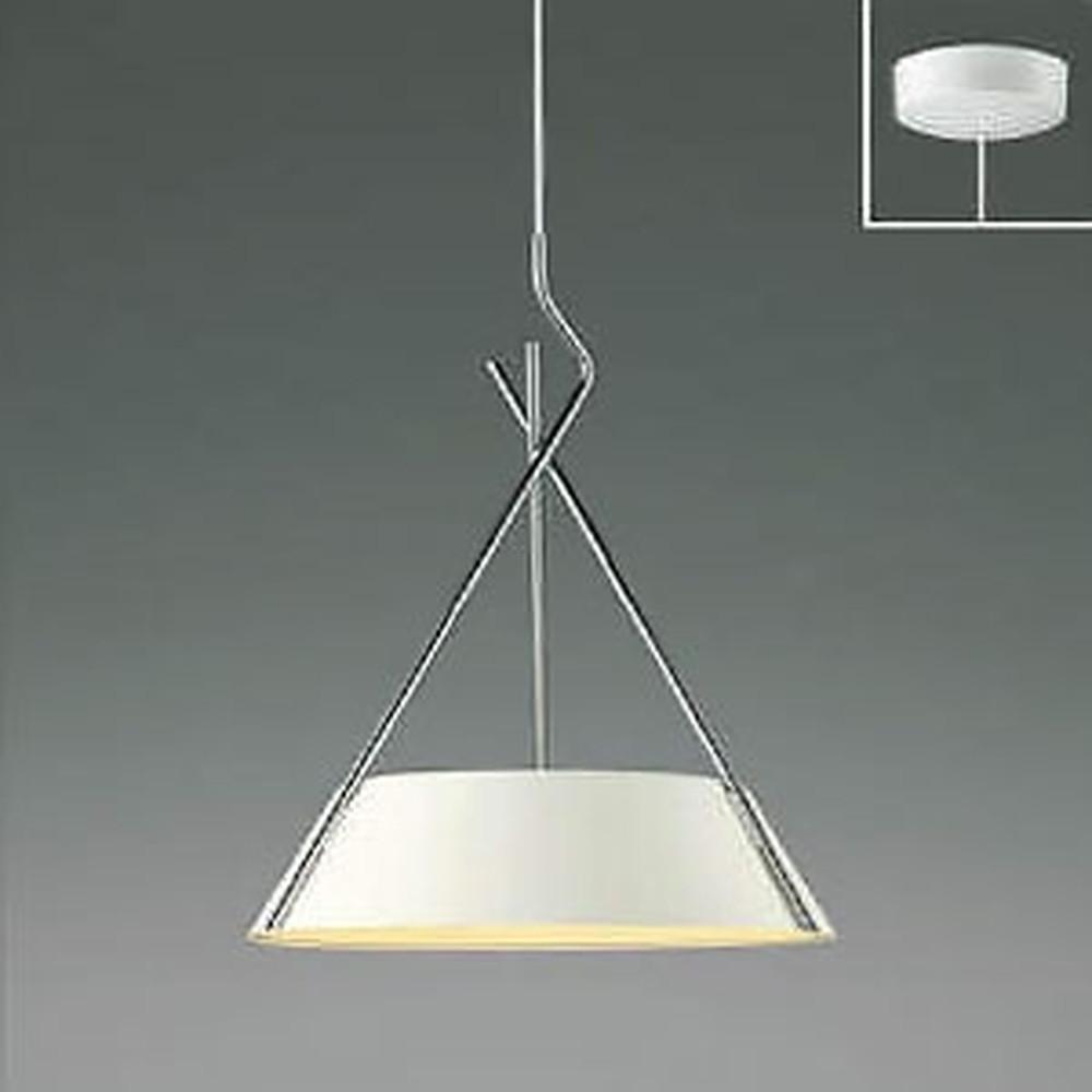 コイズミ照明 LED一体型ペンダントライト 《クロスフレーム》 フランジタイプ 白熱球60W×3灯相当 電球色 マットファインホワイト・クロム AP47619L