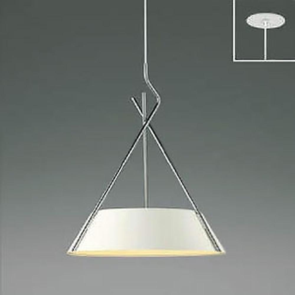 コイズミ照明 LED一体型ペンダントライト 《クロスフレーム》 埋込取付タイプ 埋込穴φ75mm 白熱球60W×3灯相当 電球色 マットファインホワイト・クロム AP47620L