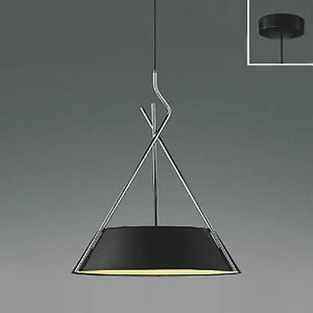 コイズミ照明 LED一体型ペンダントライト 《クロスフレーム》 フランジタイプ 白熱球60W×3灯相当 電球色 マットブラック AP47621L