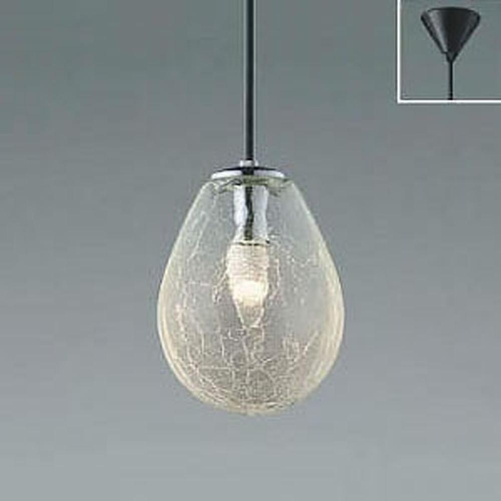 コイズミ照明 LEDペンダントライト フランジタイプ 白熱球60W相当 電球色 透明ヒビ焼 AP47836L