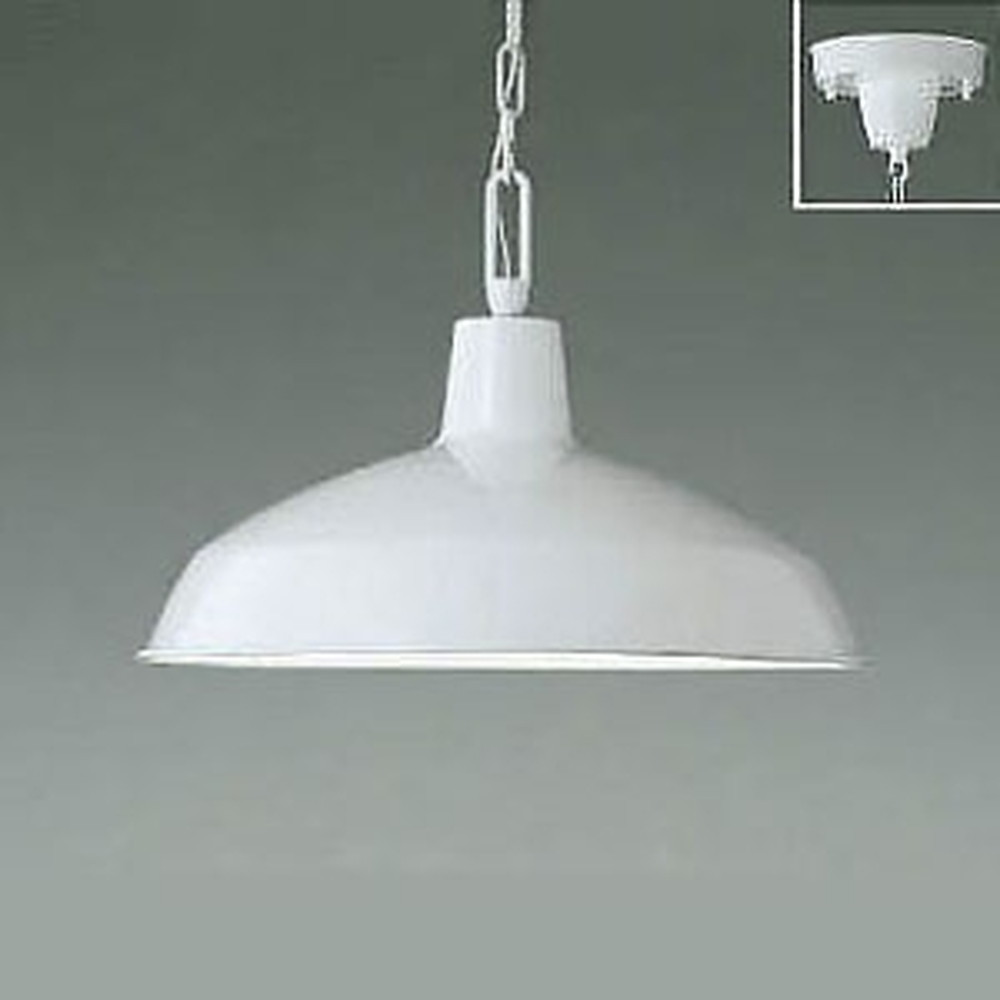 コイズミ照明 LEDペンダントライト 白熱球60W相当 電球色 白 AP47849L