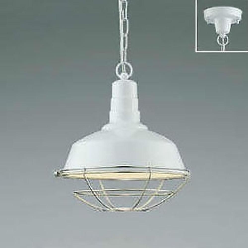 コイズミ照明 LEDペンダントライト 《Workers Lamp》 フランジタイプ 白熱球60W相当 電球色 白 AP47854L