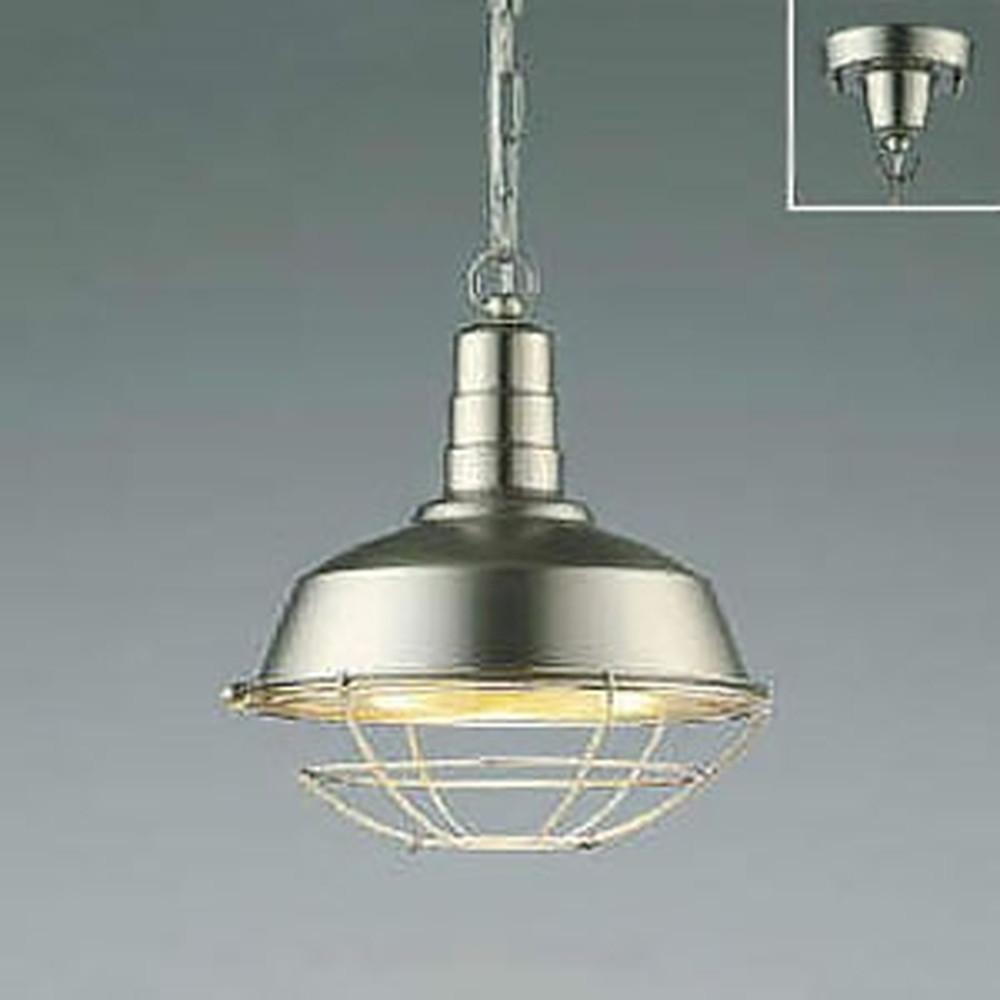 コイズミ照明 LEDペンダントライト 《Workers Lamp》 フランジタイプ 白熱球60W相当 電球色 ニッケル AP47855L