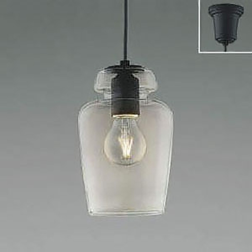 コイズミ照明 LEDペンダントライト 《L-SLOW》 白熱球40W相当 電球色 アイアン AP48715L