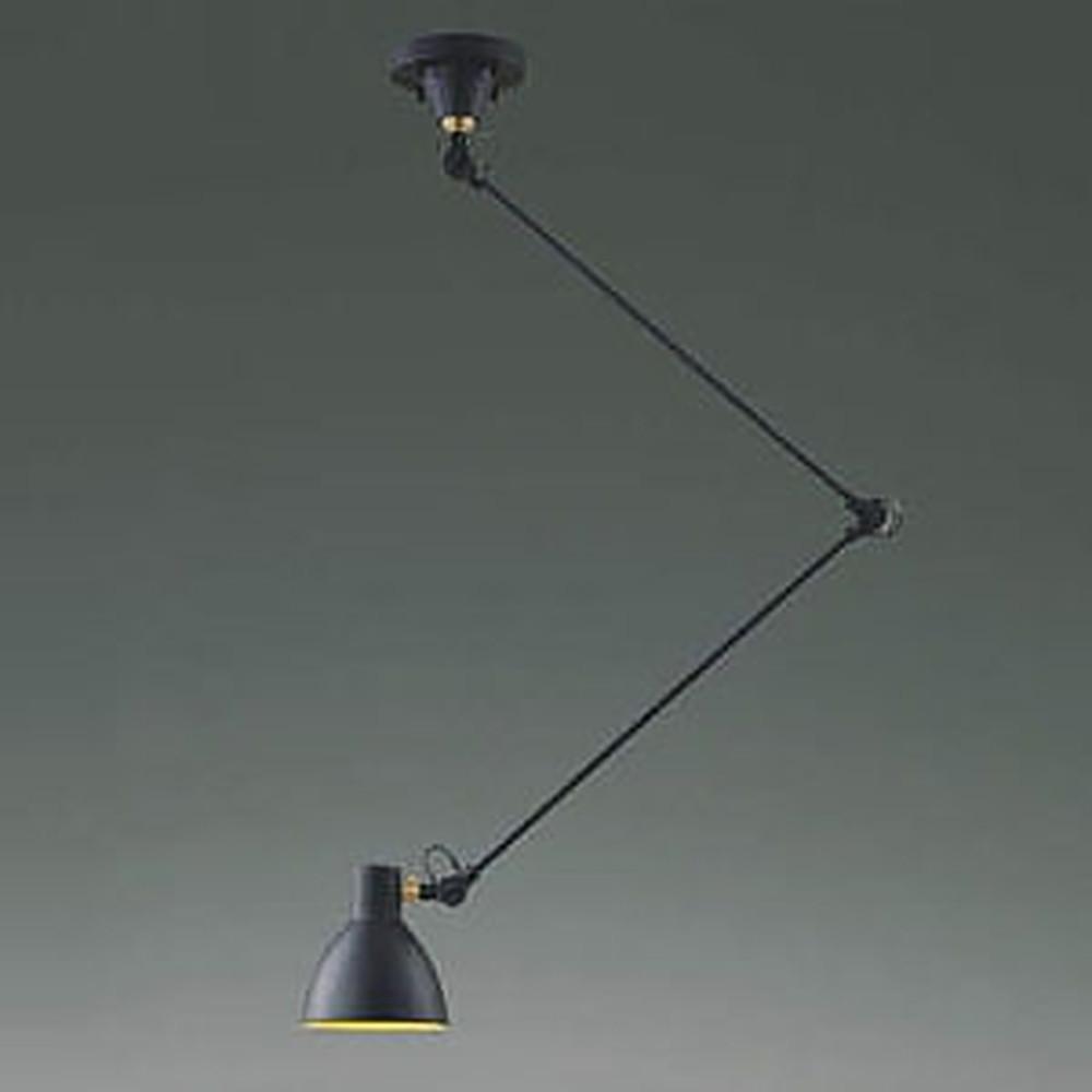 コイズミ照明 LEDペンダントライト 《Arm Light》 白熱球100W相当 電球色 スイッチ付 黒 AP49286L