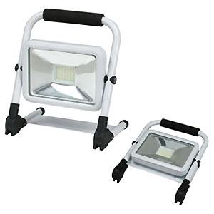 ジェフコム LED投光器 屋外用 充電タイプ 折りたたみ式 20W形 明るさ3段切替+点滅 高輝度白色チップLED×36個 PDSB-05020S