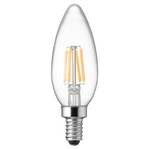 ヤザワ 【ケース販売特価 10個セット】 LED電球 C32シャンデリア形 クリアタイプ 25W形相当 電球色 口金E12 LDC2LG32E12C_set