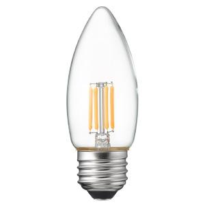 ヤザワ 【ケース販売特価 10個セット】 LED電球 C36シャンデリア形 クリアタイプ 25W形相当 電球色 口金E26 LDC2LG36C_set