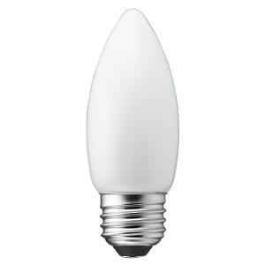 ヤザワ 【ケース販売特価 10個セット】 LED電球 C36シャンデリア形 ホワイトタイプ 25W形相当 電球色 口金E26 LDC2LG36WH_set