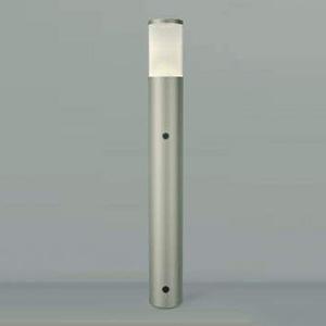 コイズミ照明 LEDガーデンライト 防雨型 高さ745mm 白熱球60W相当 電球色 自動点滅器付 ウォームシルバー AUE664128