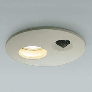 コイズミ照明 LED軒下ダウンライト ベースタイプ 防雨型 SGⅠ形 埋込穴φ150 白熱球60W相当 電球色 拡散配光 タイマー付人感センサ付 ウォームシルバー AUE651069