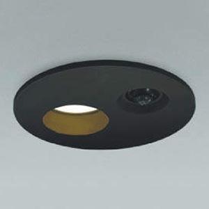 コイズミ照明 LED軒下ダウンライト ベースタイプ 防雨型 SGⅠ形 埋込穴φ150 白熱球60W相当 電球色 拡散配光 タイマー付人感センサ付 ブラック AUE651073