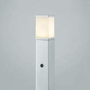 コイズミ照明 LEDガーデンライト 防雨型 白熱球60W相当 電球色 自動点滅器付 シルバーメタリック AUE664146