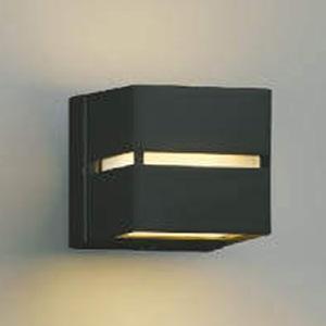 コイズミ照明 LEDポーチ灯 防雨型 壁面・門柱取付用 上下面照射タイプ 白熱球40W相当 電球色 自動点滅器付 黒 AU35032L