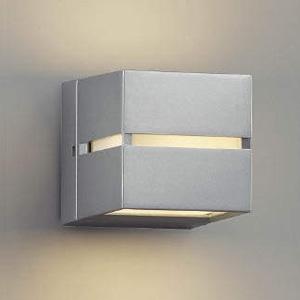 コイズミ照明 LEDポーチ灯 防雨型 壁面・門柱取付用 上下面照射タイプ 白熱球40W相当 電球色 シルバーメタリック AU35033L