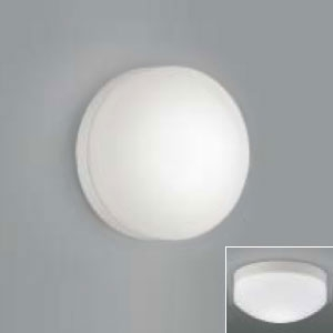 コイズミ照明 LED浴室灯 防湿型 壁面・天井面取付用 白熱球60W相当 昼白色 傾斜天井対応 AW37053L