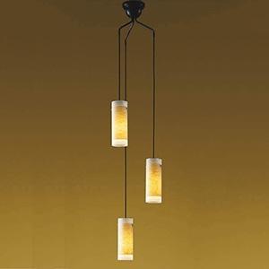 コイズミ照明 LED和風シャンデリア 吹き抜け用 直付タイプ 白熱球60W×3灯相当 電球色 AA37678L