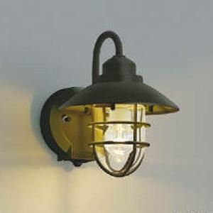 コイズミ照明 LEDポーチ灯 防雨型 白熱球60W相当 電球色 タイマー付人感センサ付 茶 AU38410L