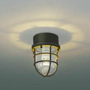 コイズミ照明 LEDポーチ灯 防雨型 天井・壁面・門柱取付用 白熱球60W相当 電球色 茶 AU38416L