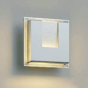 コイズミ照明 LED一体型ポーチ灯 《E.L.H.®》 防雨型 白熱球40W相当 電球色 調光タイプ シルバーメタリック AU38537L