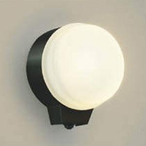 コイズミ照明 LED一体型勝手口灯 防雨型 白熱球60W相当 電球色 マルチフラッシュタイプ人感センサ付 黒 AU38539L