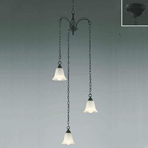 コイズミ照明 LEDシャンデリア 《Regine》 吹き抜け用 白熱球60W×3灯相当 電球色 傾斜天井対応 AA39694L