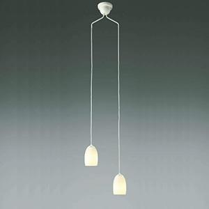 コイズミ照明 LEDペンダントライト 吹き抜け用 直付タイプ 白熱球60W×2灯相当 電球色 傾斜天井対応 AP40021L