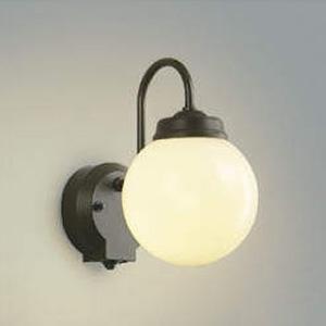 コイズミ照明 LEDポーチ灯 防雨型 直営ストア 白熱球60W相当 電球色 白 受賞店 AU40250L タイマー付人感センサ付 茶