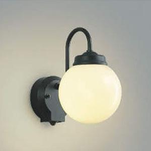 コイズミ照明 LEDポーチ灯 防雨型 白熱球60W相当 電球色 タイマー付人感センサ付 黒/白 AU40251L