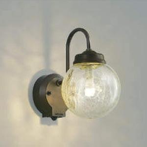 コイズミ照明 LEDポーチ灯 防雨型 白熱球60W相当 電球色 タイマー付人感センサ付 茶/透明ひび焼 AU40253L