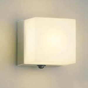 コイズミ照明 LEDポーチ灯 防雨型 白熱球40W相当 電球色 タイマー付人感センサ付 ウォームシルバー AU40267L