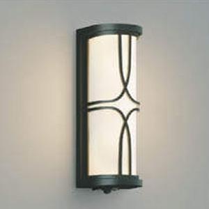 コイズミ照明 LED一体型ポーチ灯 防雨型 白熱球40W相当 電球色 タイマー付人感センサ付 黒 AU40399L