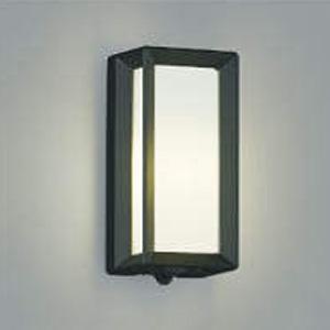 コイズミ照明 LEDポーチ灯 防雨型 白熱球40W相当 電球色 タイマー付人感センサ付 黒 AU40407L