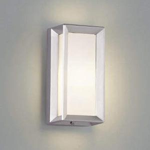 コイズミ照明 LEDポーチ灯 防雨型 天井・壁面・門柱取付用 白熱球40W相当 電球色 シルバーメタリック AU40414L