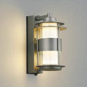 コイズミ照明 LED一体型ポーチ灯 《One's Lamp #1EX》 防雨型 白熱球40W相当 電球色 マルチタイプ人感センサ付 ウォームホワイト AU40608L