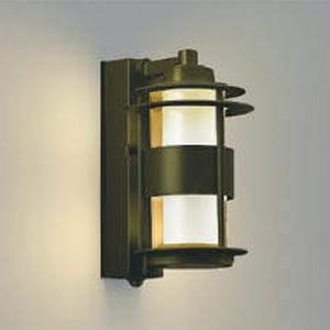 コイズミ照明 LED一体型ポーチ灯 《One's Lamp #1EX》 防雨型 白熱球40W相当 電球色 マルチタイプ人感センサ付 ブラウン AU40610L