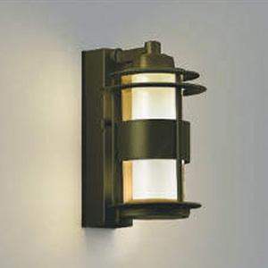 コイズミ照明 LED一体型ポーチ灯 《One's Lamp #1EX》 防雨型 白熱球40W相当 電球色 マルチタイプ人感センサ付 ウォームグレー AU40611L